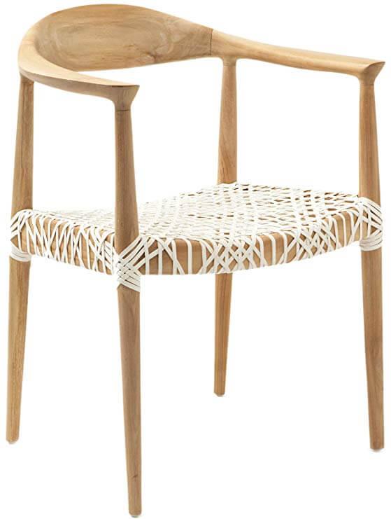Wade Light Oak Teak Wood Arm Chair