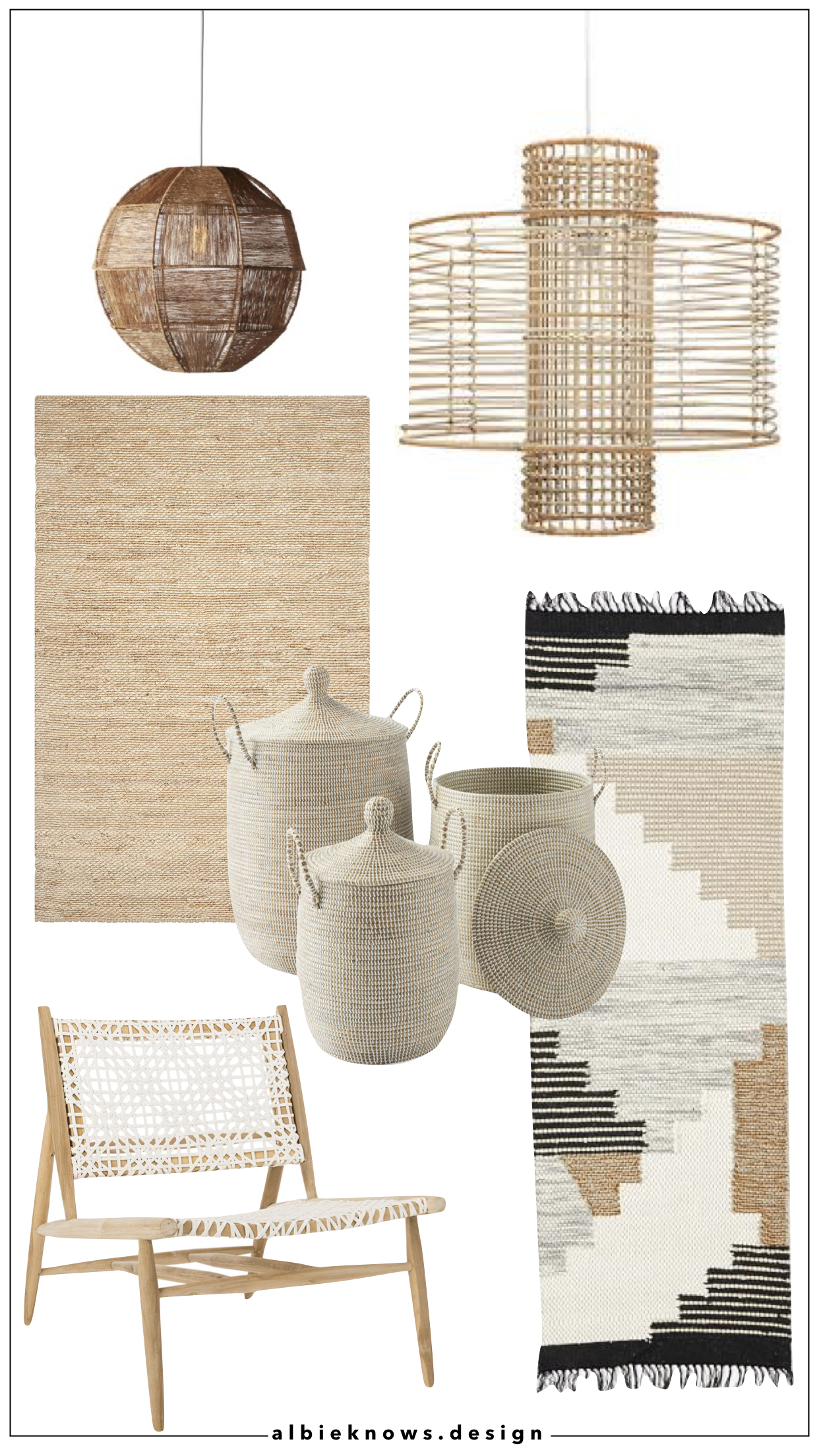 Shop With Me: Decorating With Natural Weaves | Albie Knows