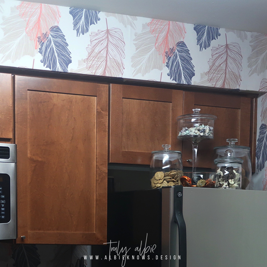 Kitchen Update Removable Wallpaper Install By Albie Knows Interior Design Decor Styling Home Organization