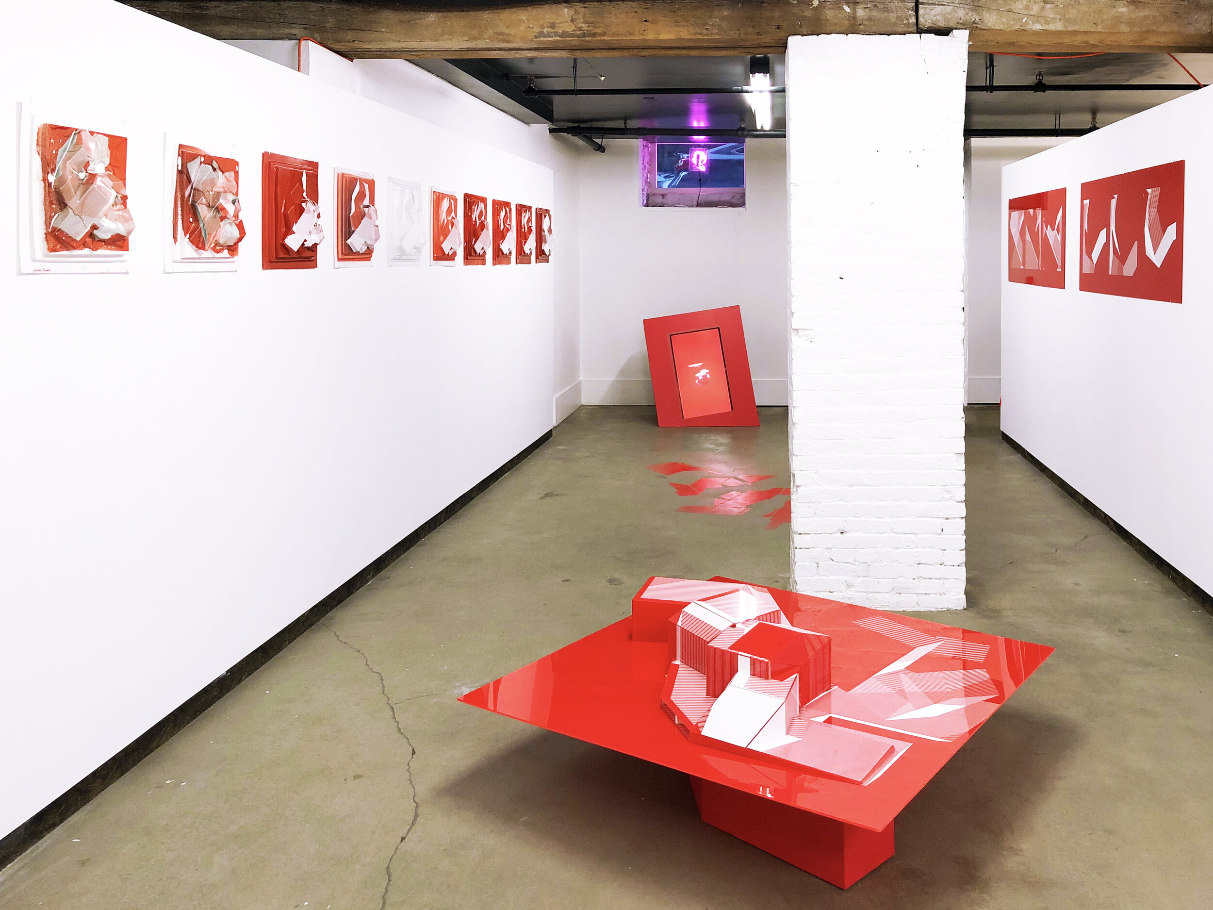 CURRENTLY ON VIEW: POPPY RED AT PINKCOMMA GALLERY, BOSTON   http://www.pinkcomma.com