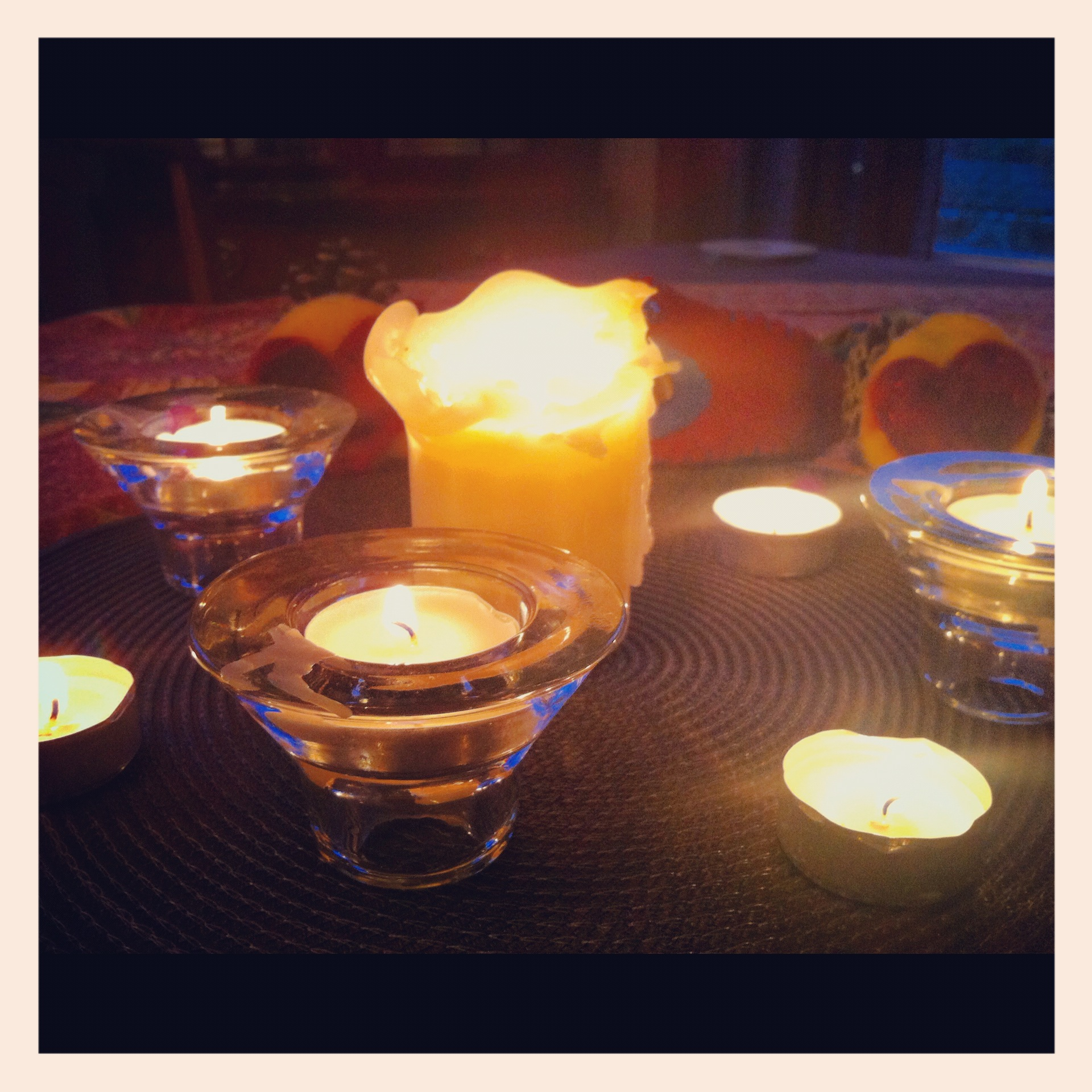 candles at meal time