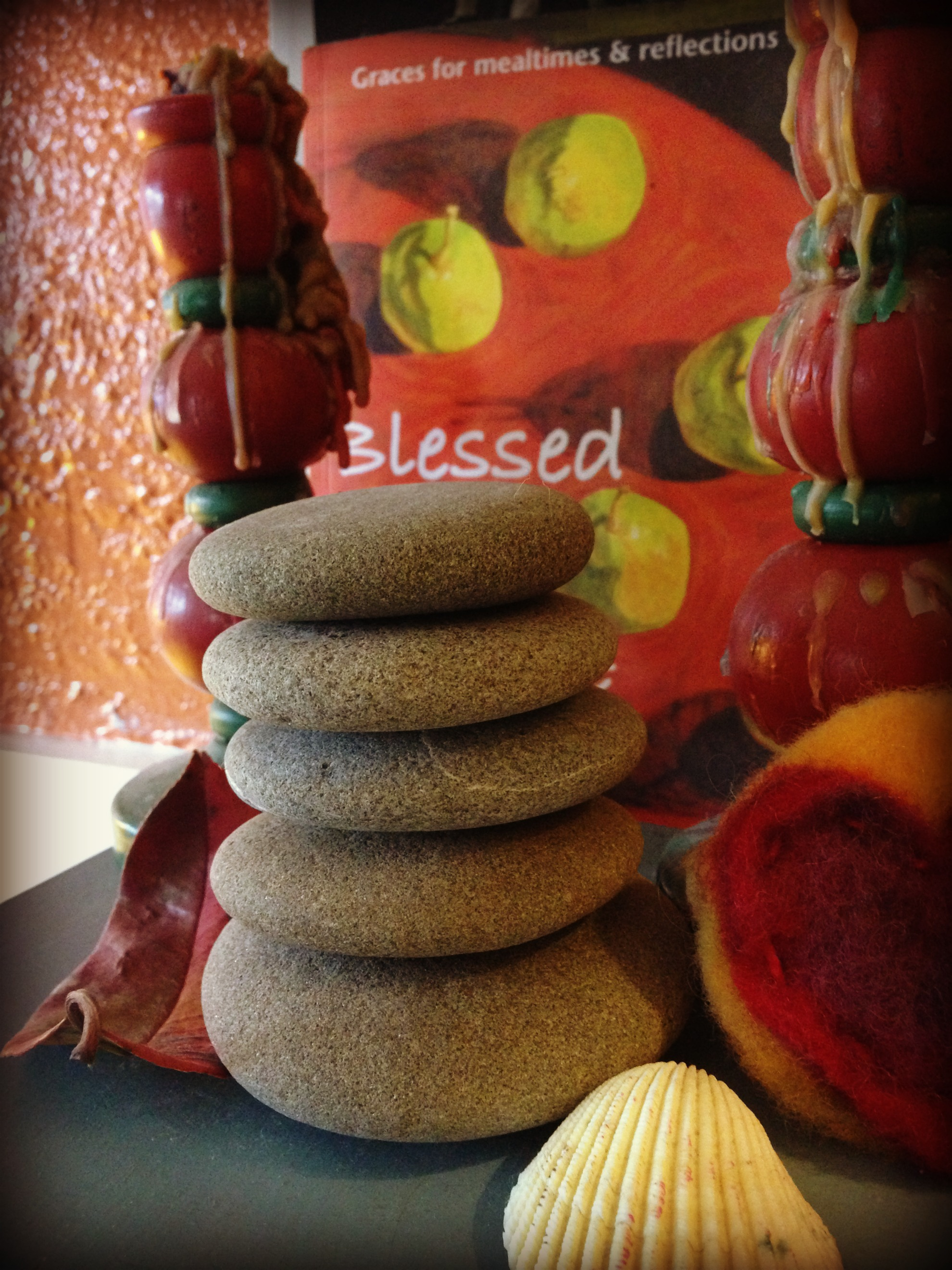Our Family Cairn-stones from the WA coast representing each of our family members
