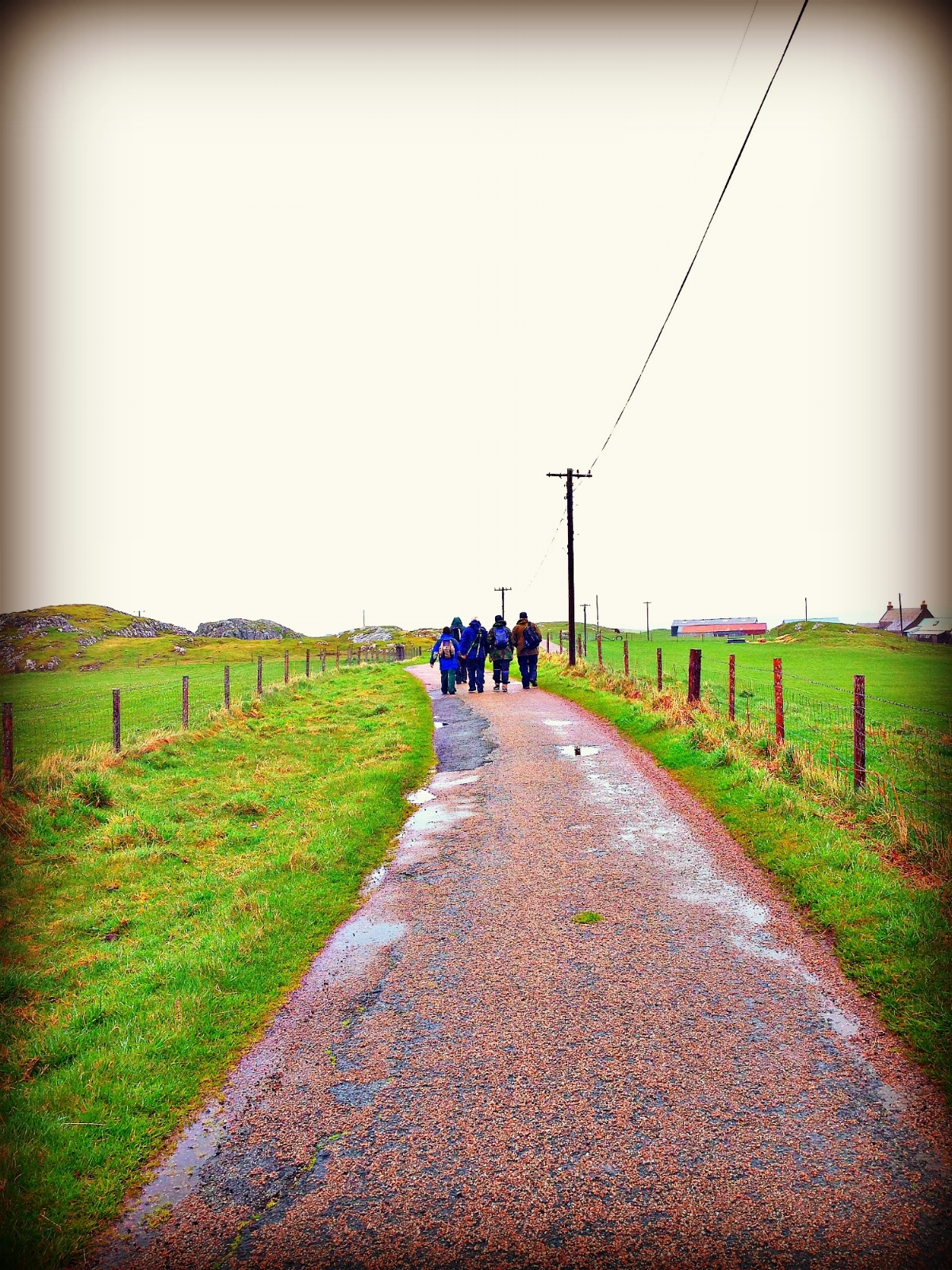 walking along the only road on IOna