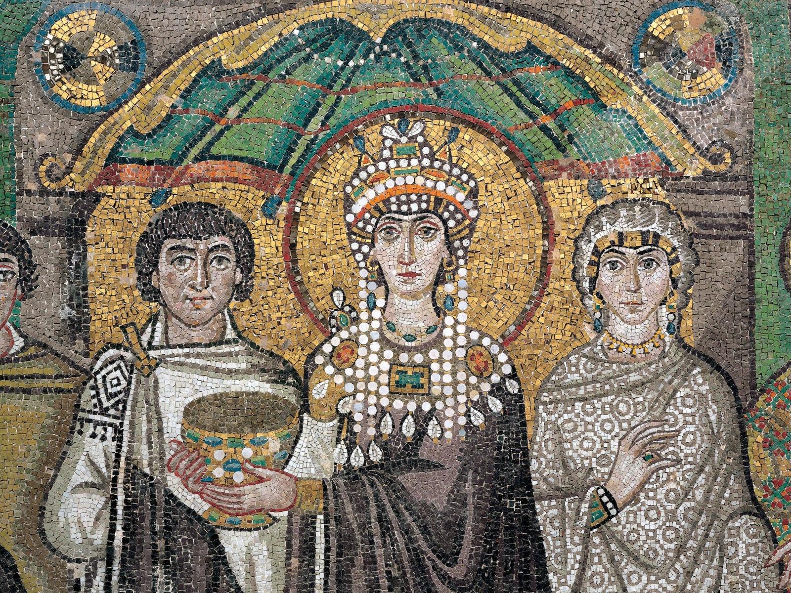 拜占庭鑲嵌馬賽克 /聖維塔教堂 /義大利拉溫納 /  圖片來源  Byzantine mosaics /Basilica of San Vitale /Racenna,Italy