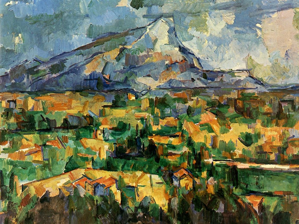 聖維克多山 /塞尚 / 費城藝術博物館 /  圖片來源  Mont Sainte-Victoire, 1902-04/ Paul CEzanne