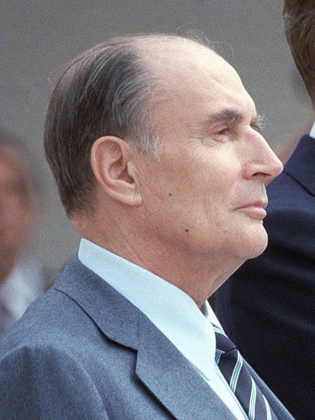 密特朗總統。圖片來源:Wikipedia