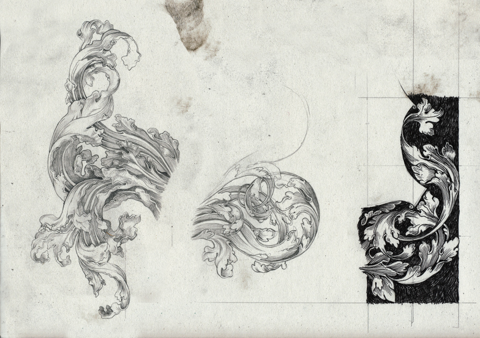 Studies of Decorative Foliage, from Durer