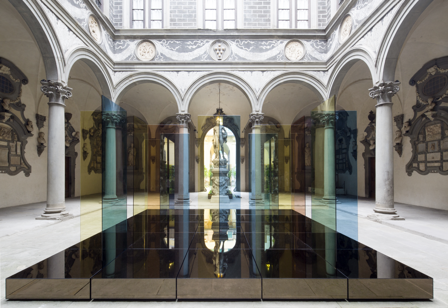 Reflective 3 Installation, Medici Palazzo Florence June 2015.