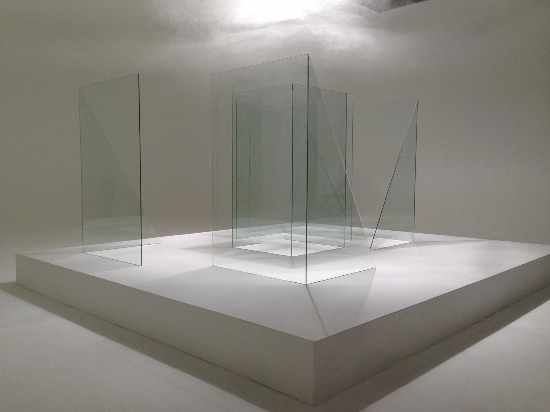 Reflective 1, glass, 2013 . Dimensions 8m x 4m x 3m.