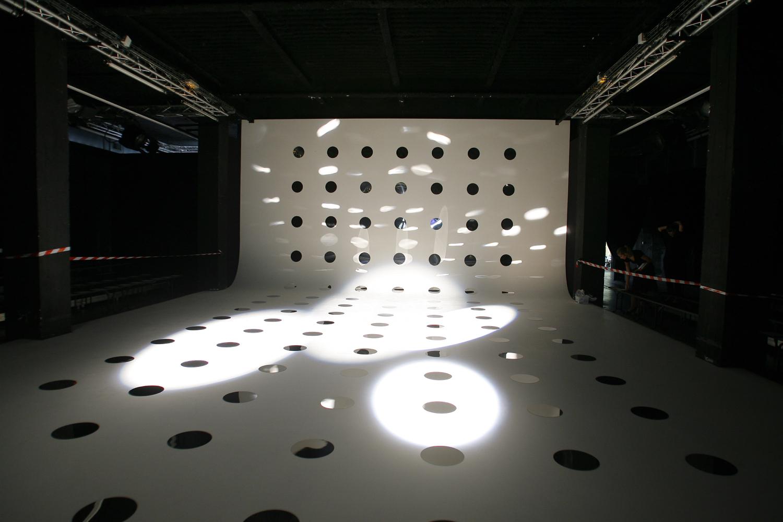 Fashion show set, 2008 Paris.