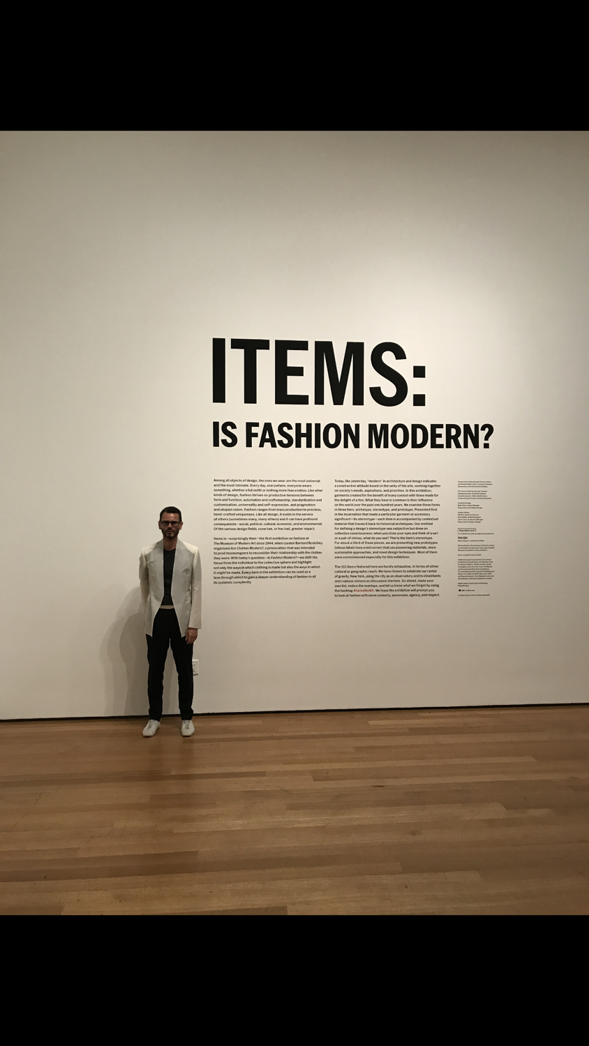 At MOMA New York at the opening of 'Is fashion Modern show, September 2017.
