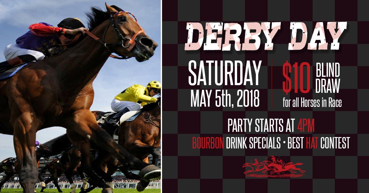 Derby Day! Best Hat Contest, Bourbon Drink Specials & $10 Blind Draw!