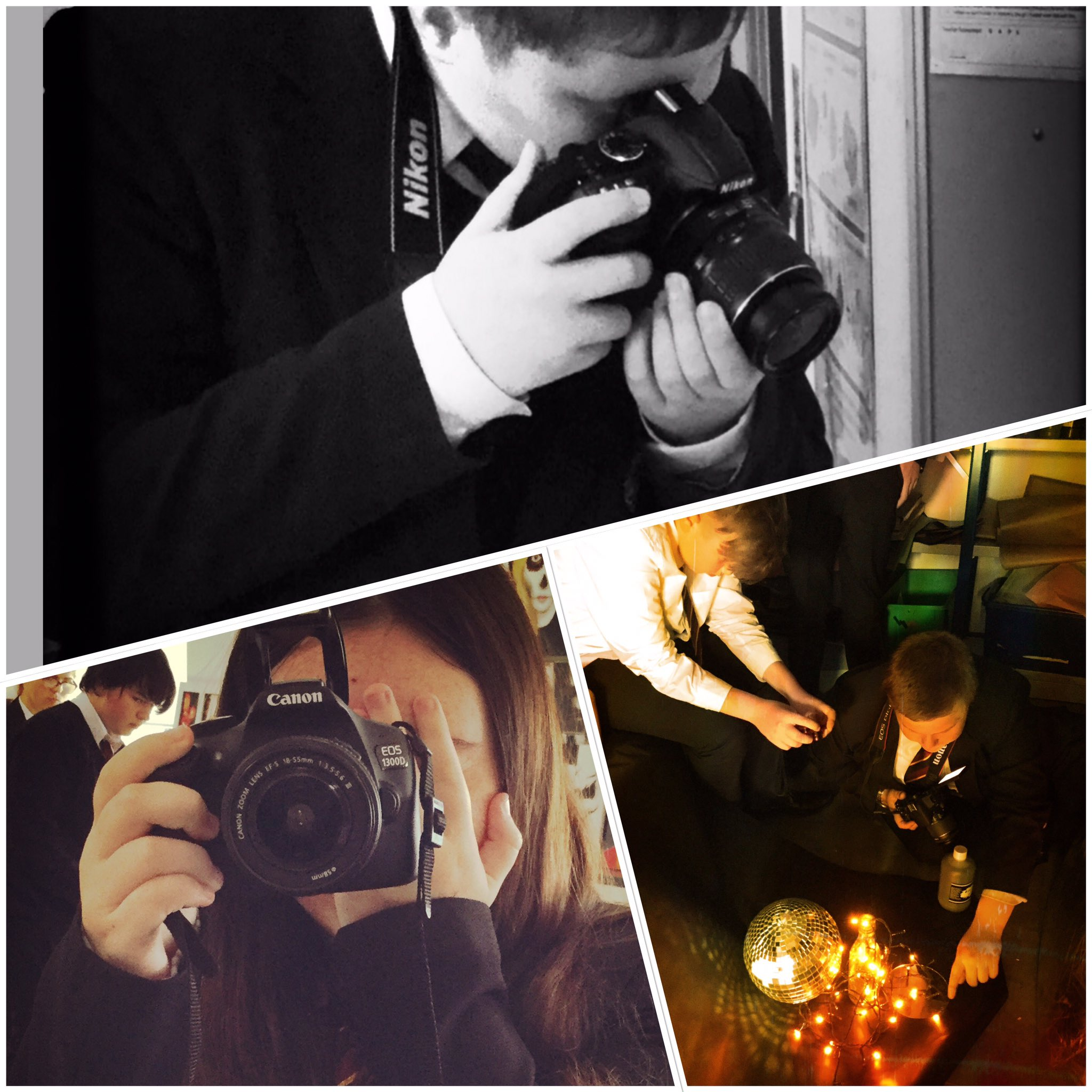 """A few snaps of our Year 10 Photography class working hard. Brilliant lesson today! Keep up the good work and enthusiasm! """