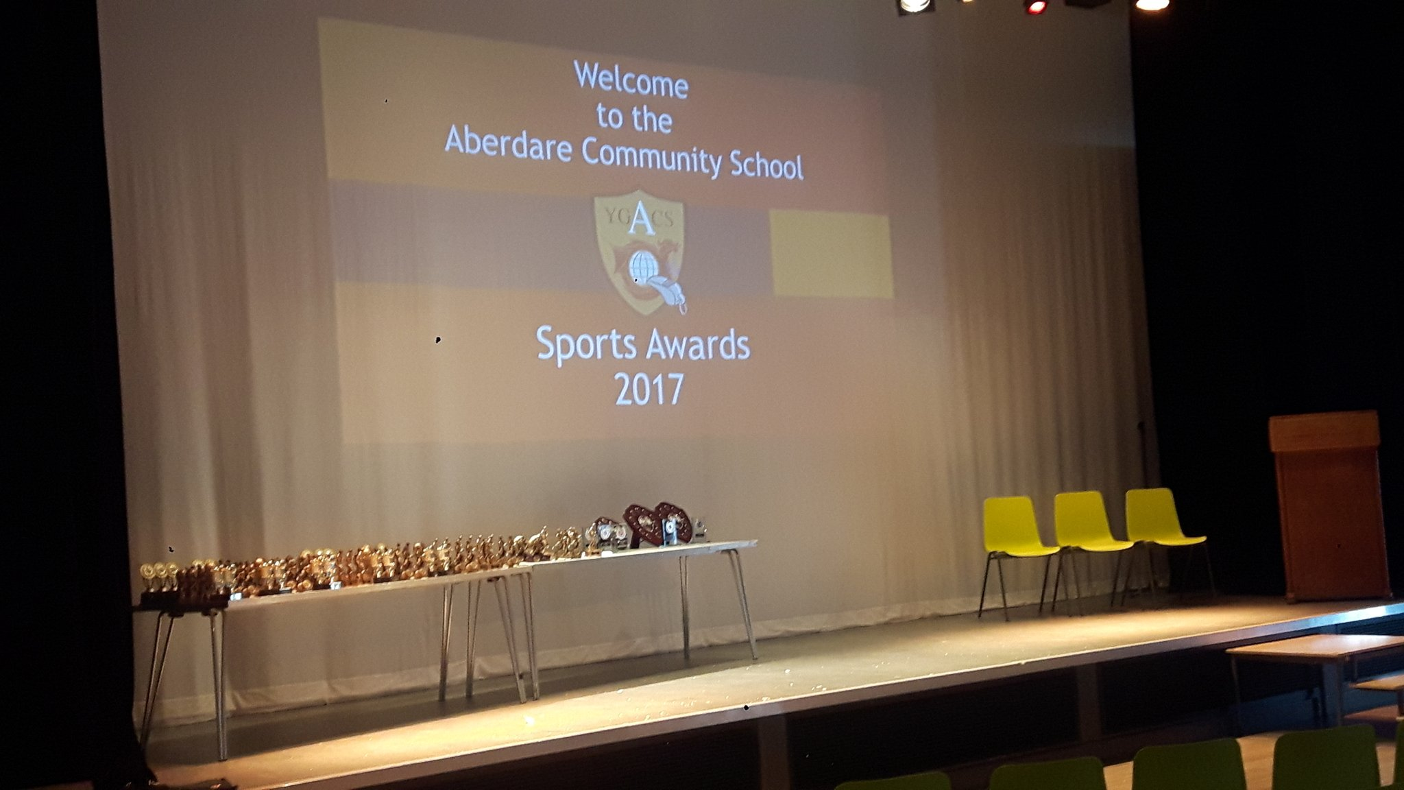 "Tweet - @ACS_Sport ""All ready for our @ACS_Sport awards evening. 6.30 meet looking forward to a great night #Celebrations"""