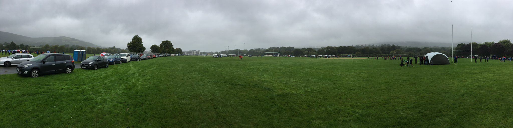 """The rain is not spoiling this tournament. Great rugby played by all ages. @WRU_Community"""