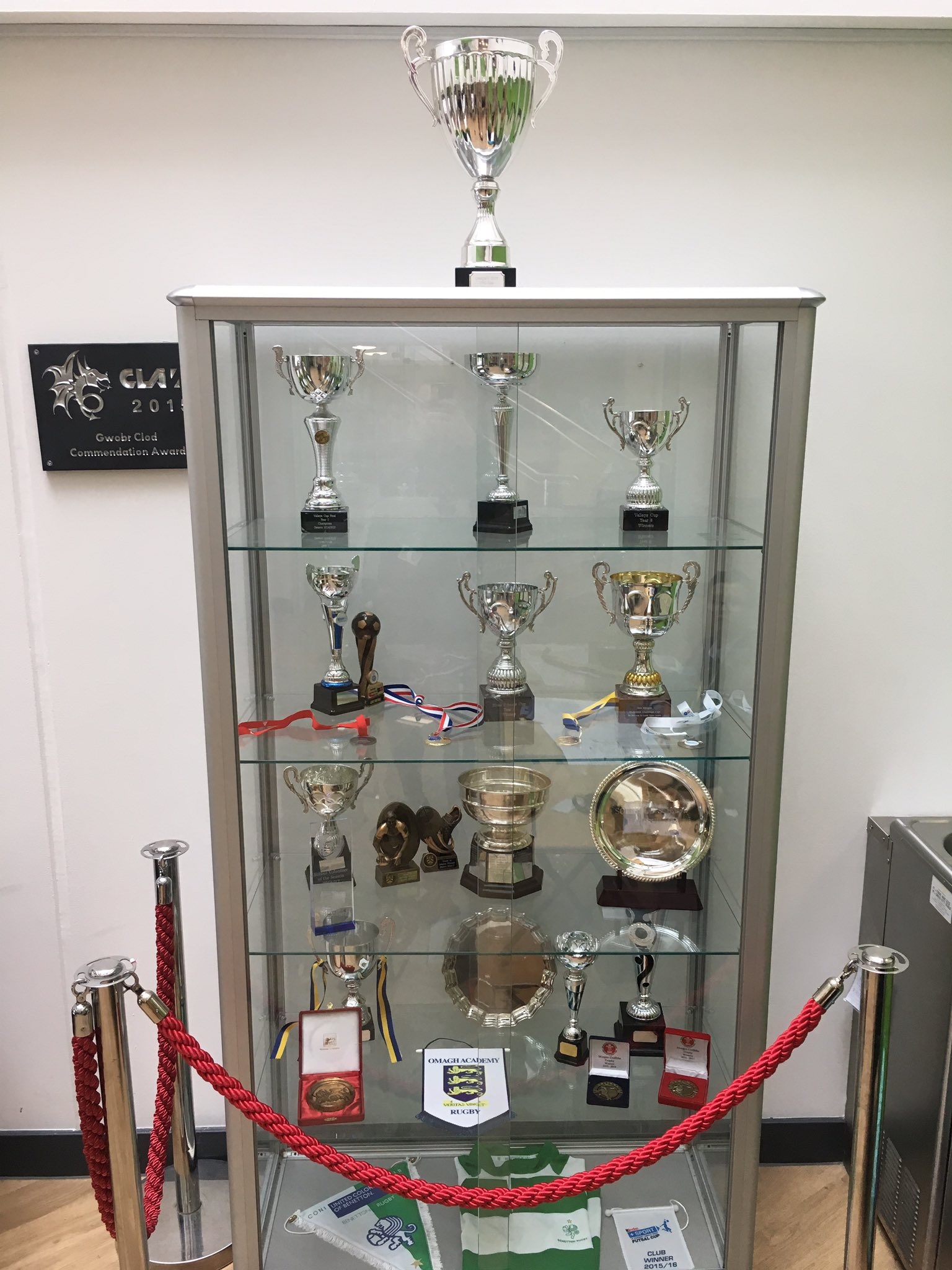 """""""Our trophy cabinet in school has found a new home by reception. Full to the rafters after just two years. """""""