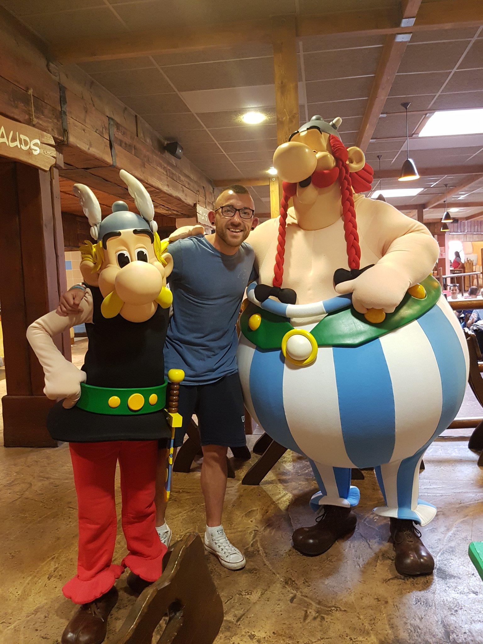 "Tweet - @CymraegACS ""Mr Evans having a great time at parc asterix @AberdareMFL"""