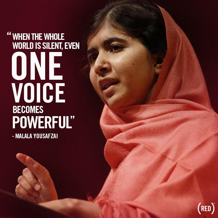 Theme of the Week - Your Voice | Eich Llais  'When the whole world is silent, even one voice becomes powerful.' - Malala Yousafzai  Lear about Malala's inspirational story at the link below   https://www.malala.org/malalas-story