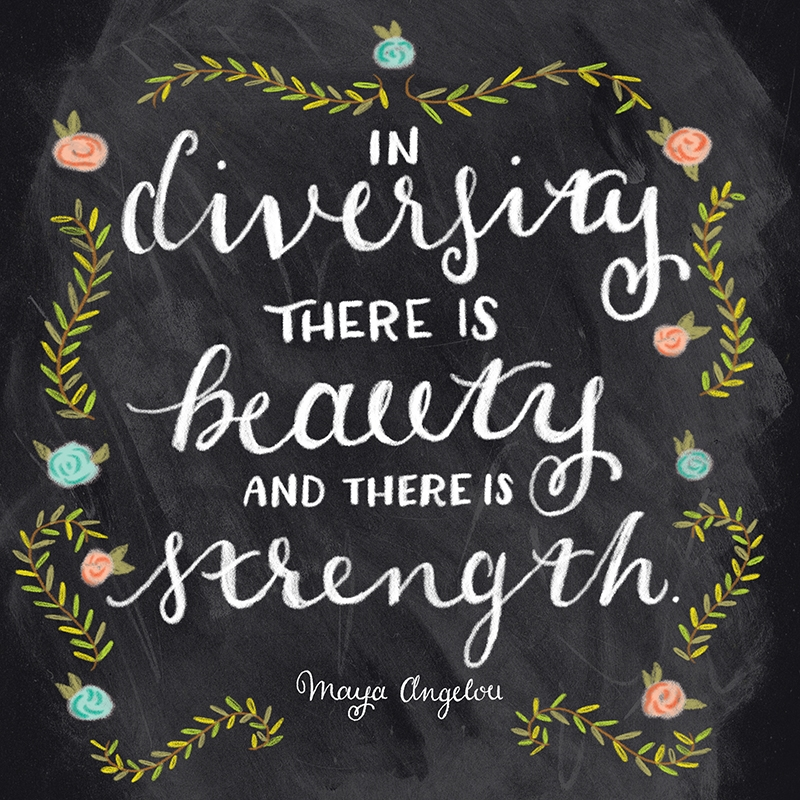 """Theme of the Week - Diversity   Amrywiaeth  """"In diversity there is beauty and there is strength"""" - Maya Angelou"""