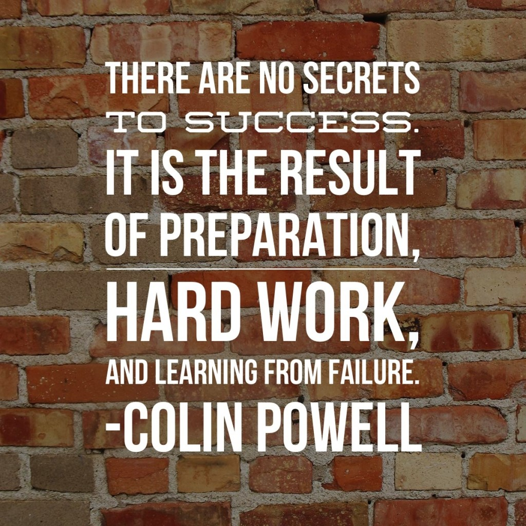 Theme of the Week - Success | Llwyddiant  'There are no secrets to success. It is the result of preparation, hard work, and learning from failure.' - Colin Powell