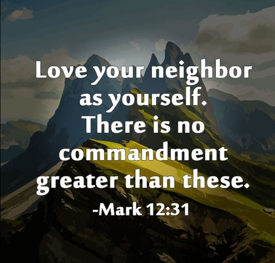 Theme of the Week - Neighbours   Cymdogion  'Love your neighbour as yourself.' - Mark 12:31