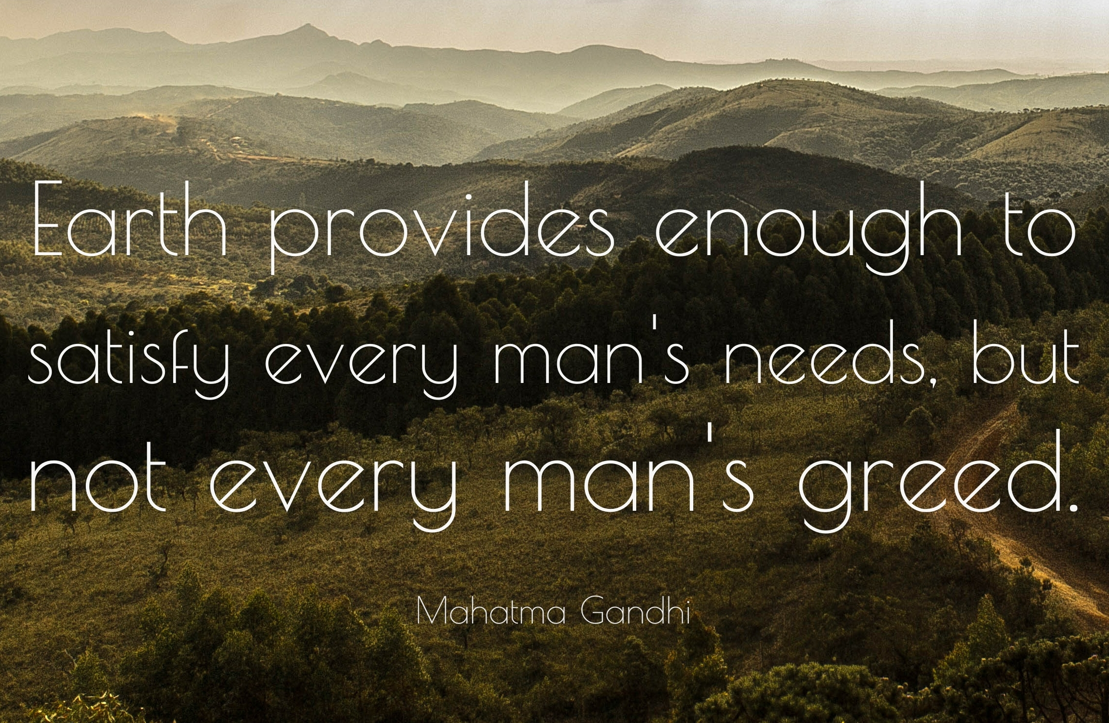 Theme of the Week - Caring for the environment | Gofalu am yr amgylchedd  'Earth provides enough to satisfy every man's needs, but not every man's greed.' - Mahatma Gandhi