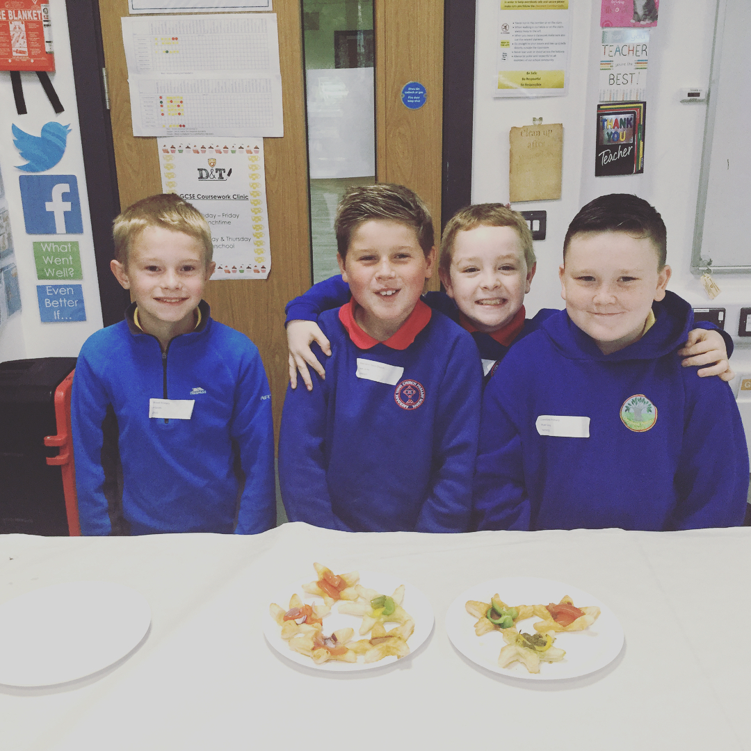 """""""Year 6 pupils making vegetable tarts during transition. Excellent 2 days. Well done all!…"""""""