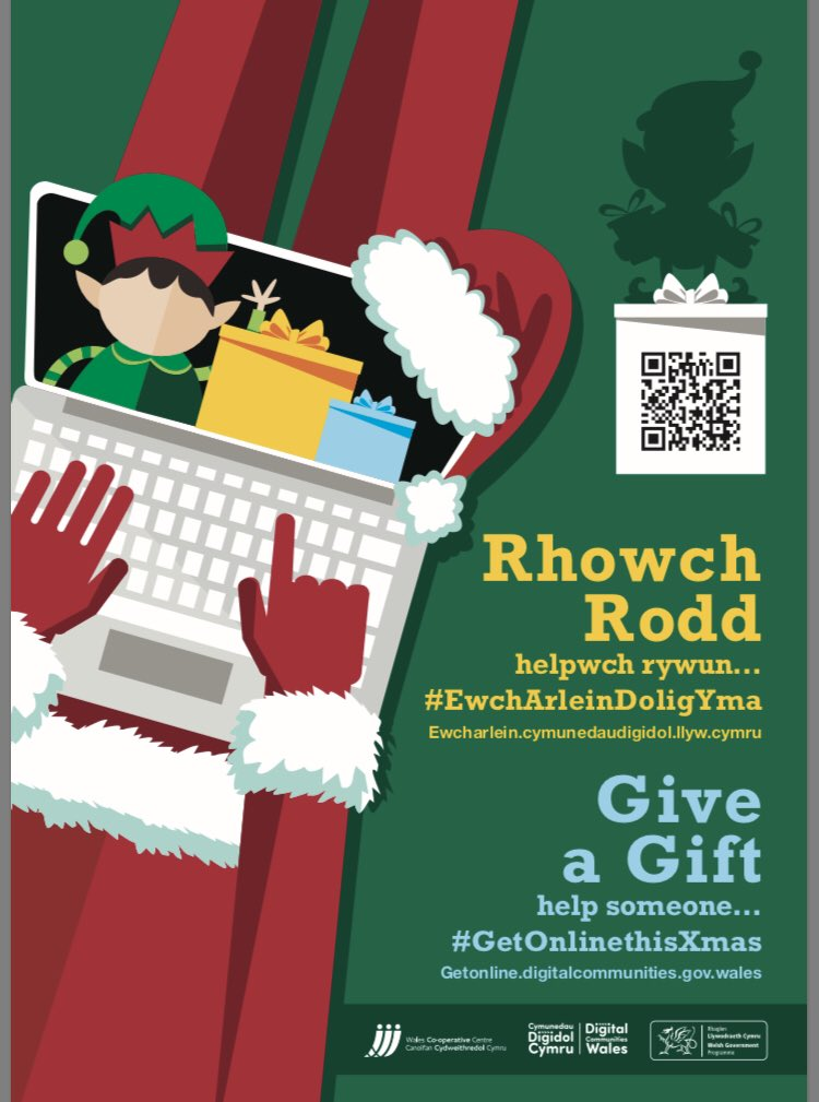 Our Digital Leaders will be supporting @DC_Wales campaign to help someone #GetOnlinethisXmas . We will post stories of our pupils helping someone get online throughout December.