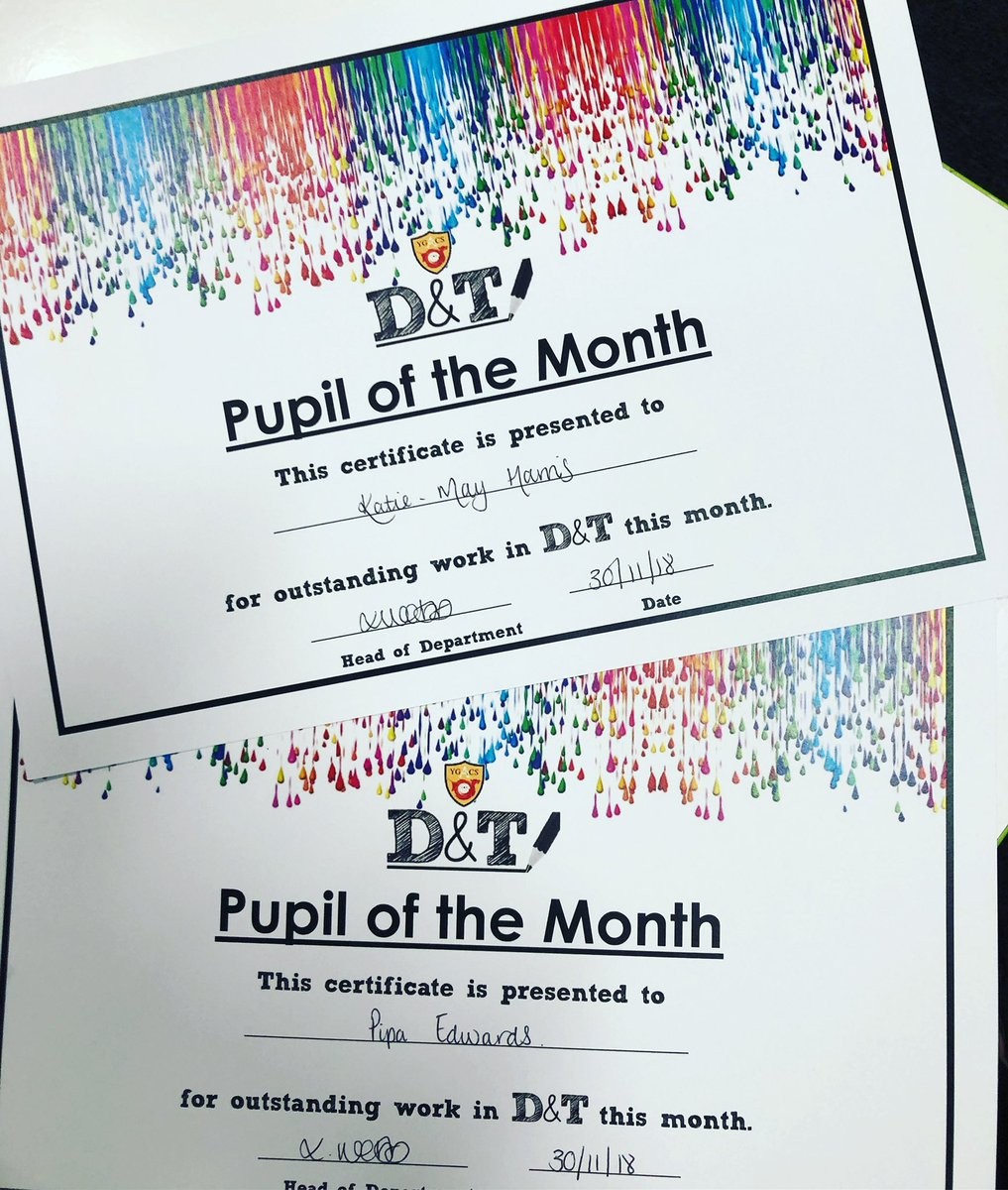 Well done to our pupils of the month…Pipa Edwards for KS3 and Katie-May Harris for KS4. Hard work pays off! #strivebelieveachieve