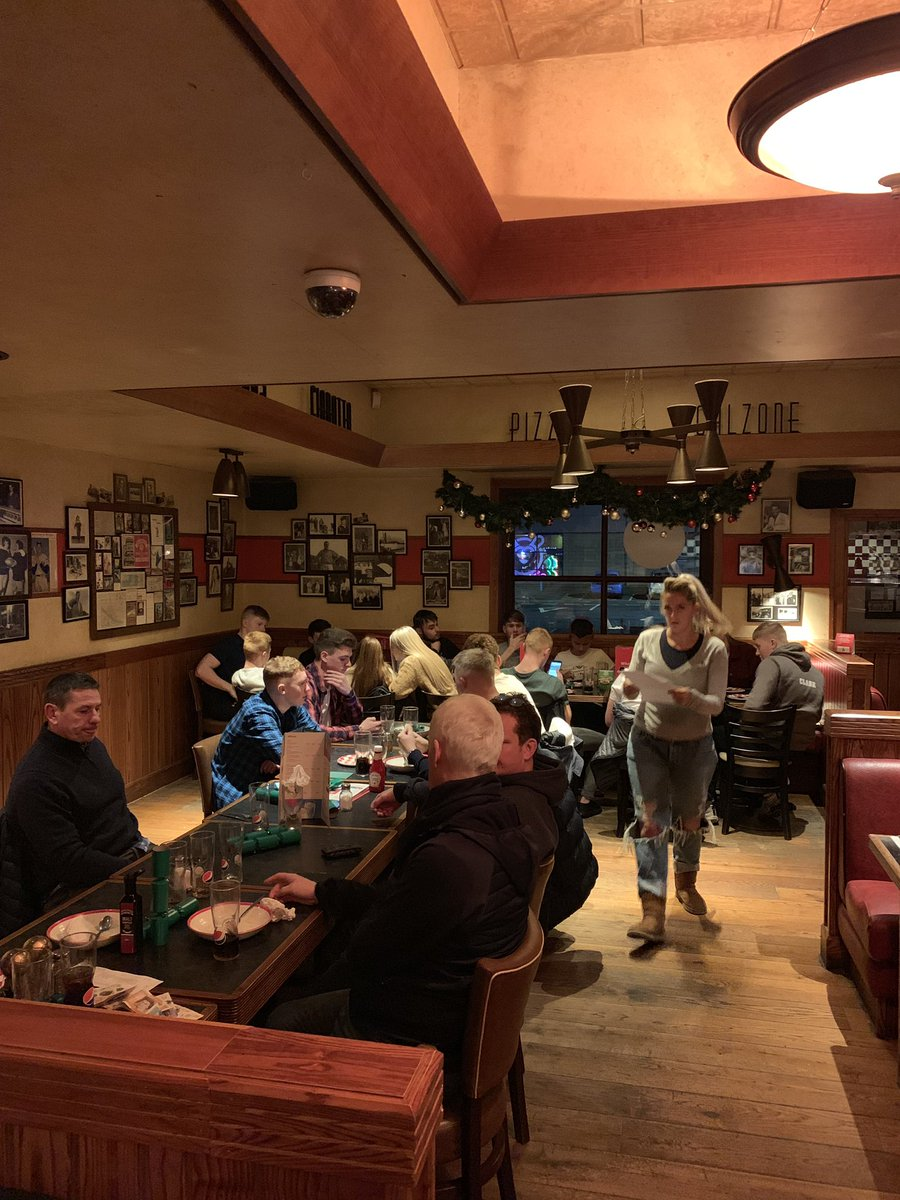 Xmas meal and bowling with our brilliant sixth form sports students. Great to have @macspe sports students joining us.