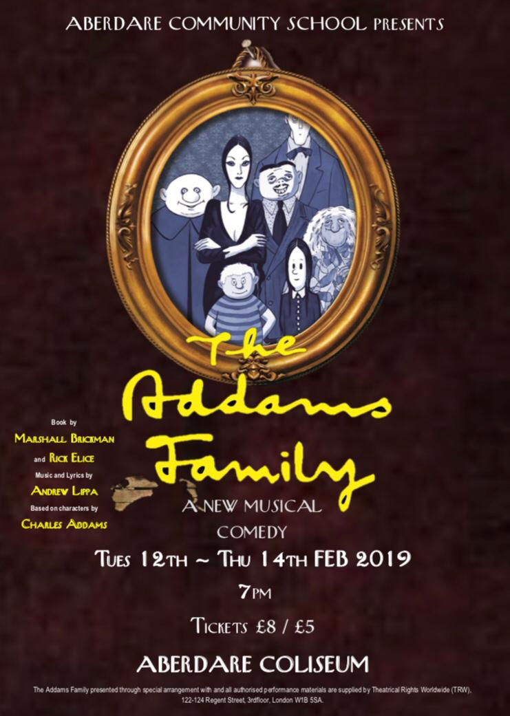 Tickets for our fifth ACS production The Addams Family are now on sale. Available from the Box Office at The Coliseum and from ACS from January! Don't miss this one, it's going to be brilliant!