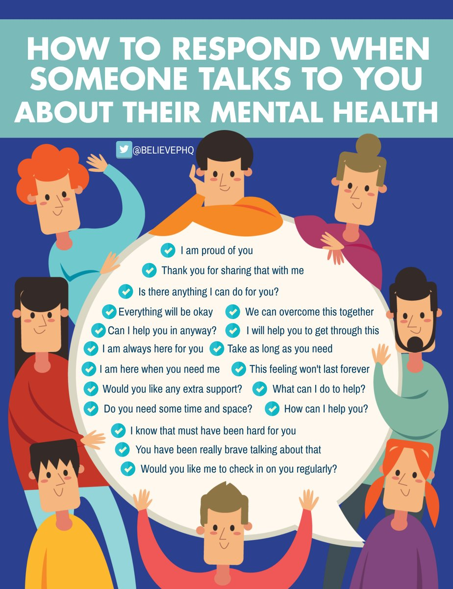 How to respond when someone talks to you about their mental health