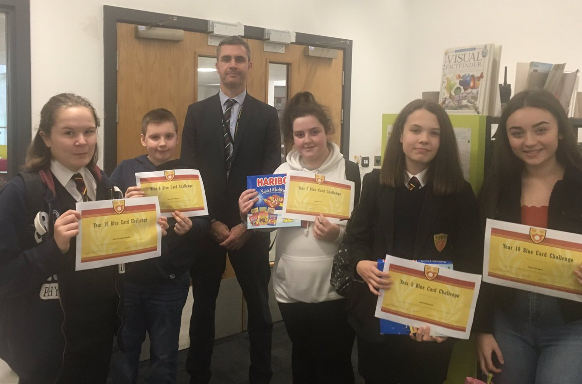 Congratulations to the winners of our blue card challenge for the Autumn term- Kayla Lewis, Thomas O'Keefe, Kate Edmunds, Alexis Coombes and Katie Morgan. You answered the most challenging questions correctly in your year group across the term- excellent work!