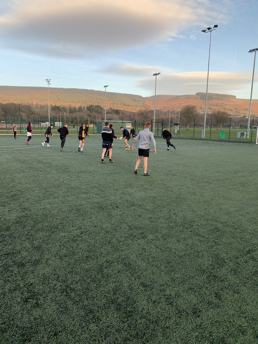 Nice to blow the cobwebs off with seniors this afternoon. Big game next Wed vs Coleg Ebbw Vale in last 32 of Welsh Cup.