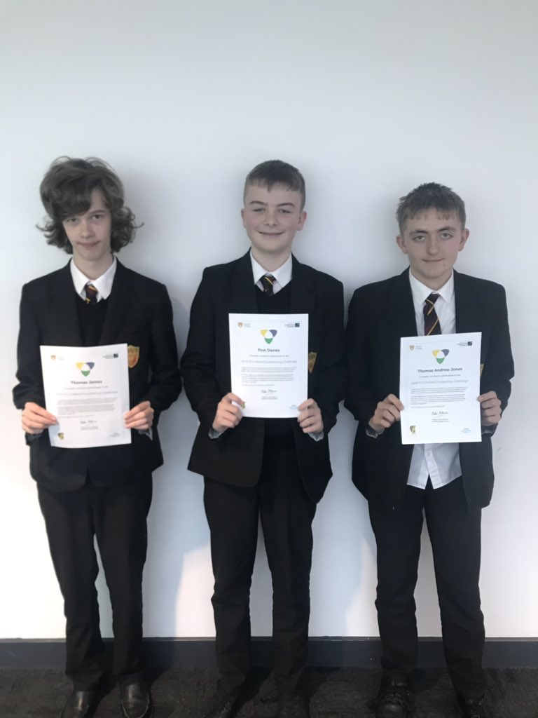 Congratulations to our Year 9 pupils that have advanced to the next round of the UK Computational Thinking Challenge