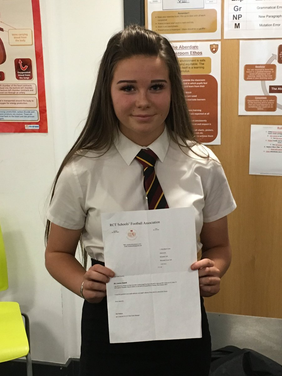 Big well done to Lauren Fenaroli our yr 10 GCSE student on her RCT football selection