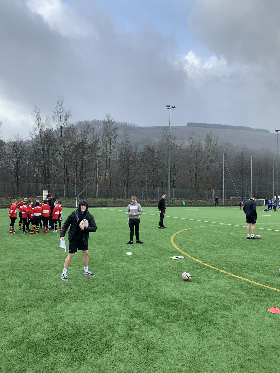 Supporting @chwaraeonyrurdd @UrddWRU7 primary school tournament today down in Mountain Ash. The rugby leaders making the most out of their level 1 refereeing