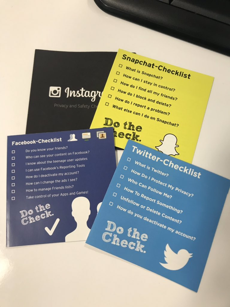 In line with our Internet Safety theme of the week next week, the following guides are being given out to pupils #dothecheck #SaferInternetWeek
