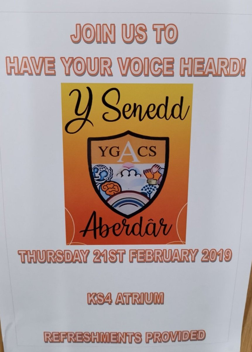 Join us at lunchtime for the first ACS Senedd Fayre #yourschoolyourvoice