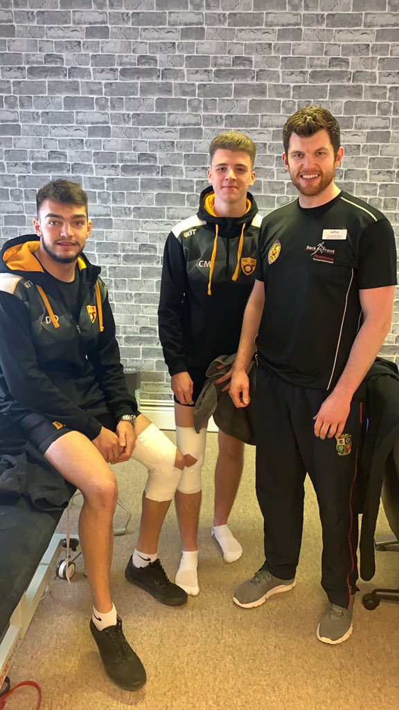 Thanks to Wattsy @Back2FrontPhys for strapping our boys before our Semi Final this afternoon.