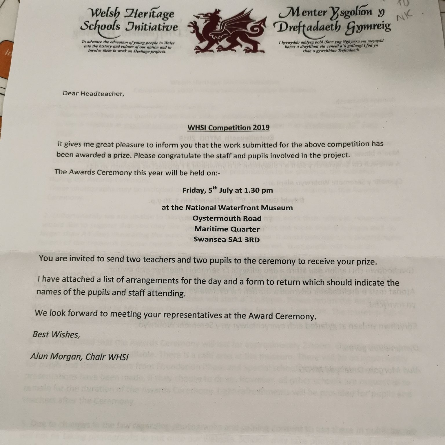 What a proud moment for ACS! Our project, Aberdare: a Community at War, has been awarded a prize from Welsh Heritage School Initiative. Thank you so much to all the hard work from  @acs_art ,  @DT_ACS  and our talented learners. It's moments like these that make teaching amazing!
