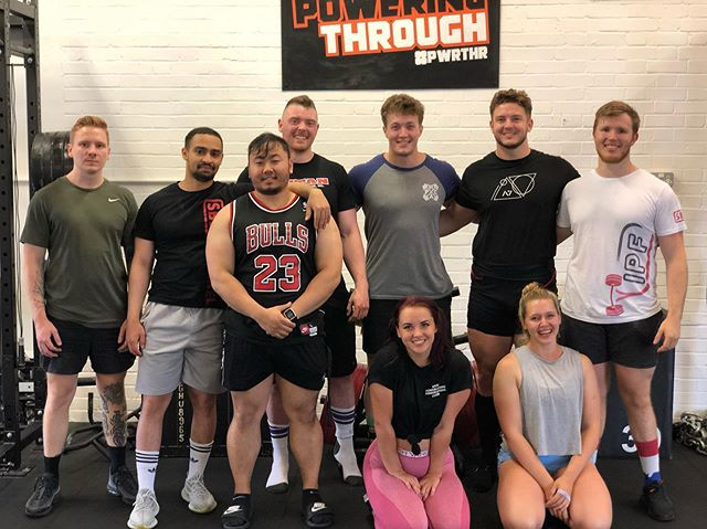 Squad from yesterday. Not including, the true one @hashtagheavy 🖤  If you're in Chelmsford and need somewhere to lift, @poweringthrough is the place to be... great kit, but more importantly better people.  I love this sport. I wouldn't know any of these people hadn't it been for Powerlifting.  #gangganggang