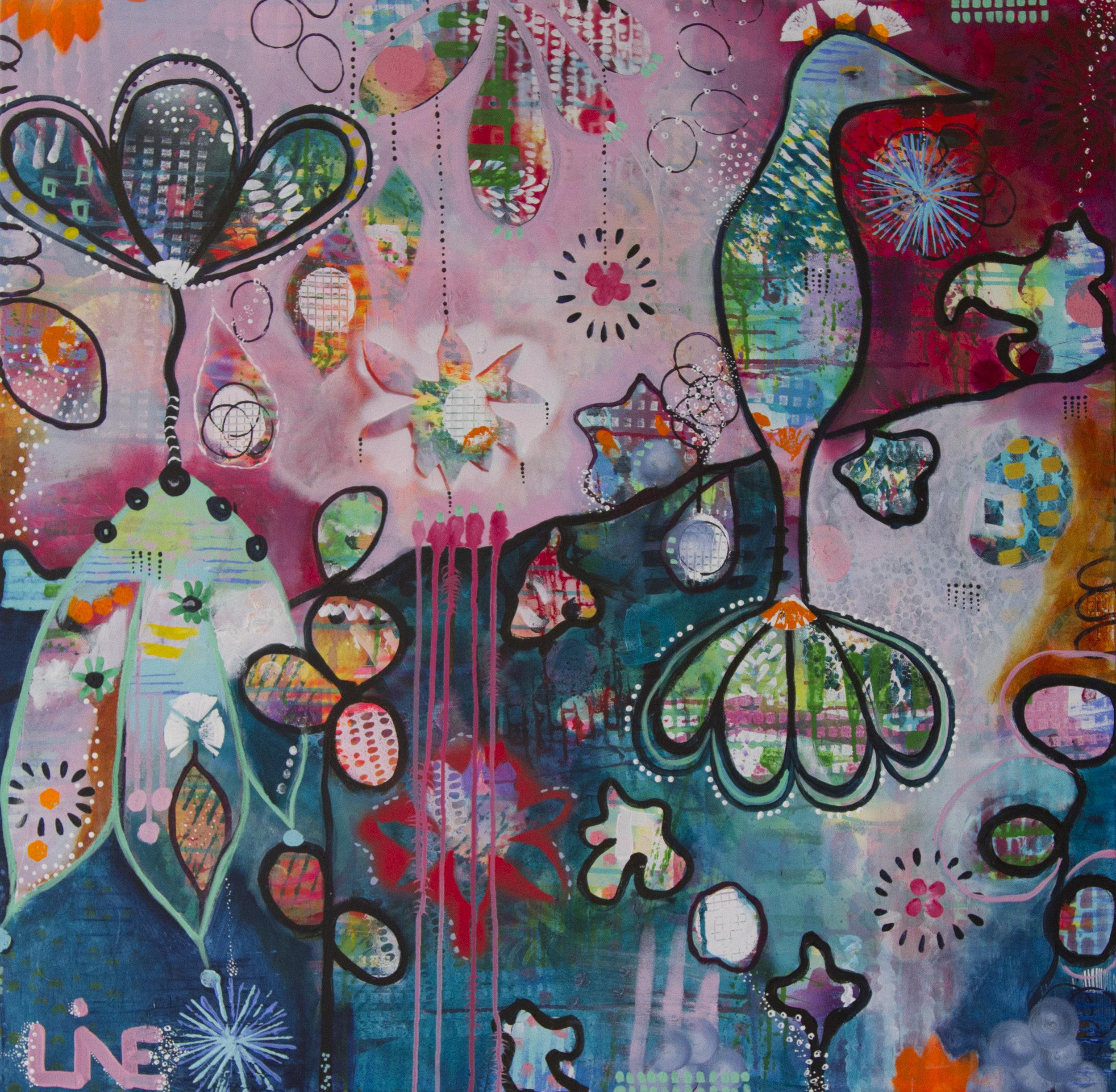 Who is a Bird 100 x 100 cm Acrylic, canvas