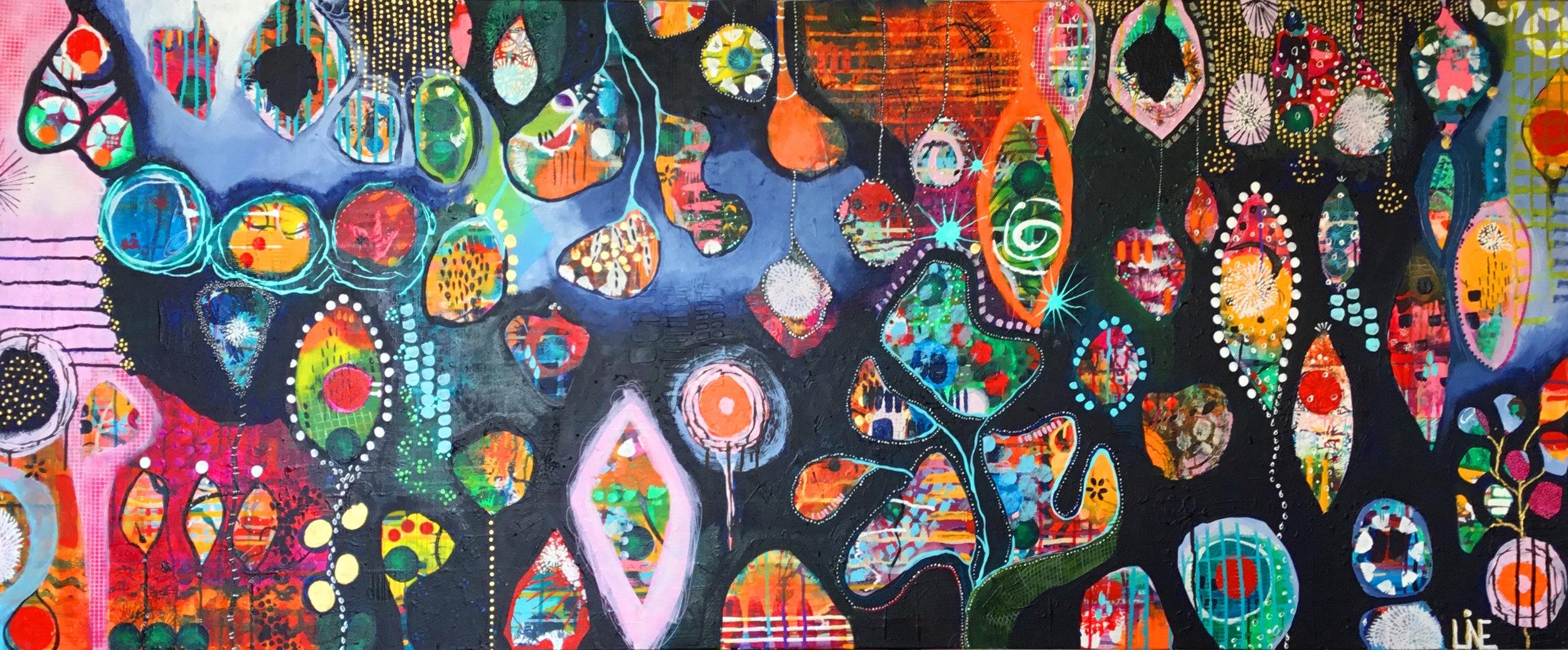 Meadow 200 x 80 cm Acrylic on canvas