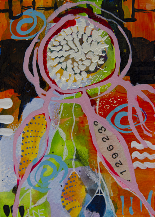 Happy Dreams VIII - 10,4 x 14,5 cm acrylic on paper