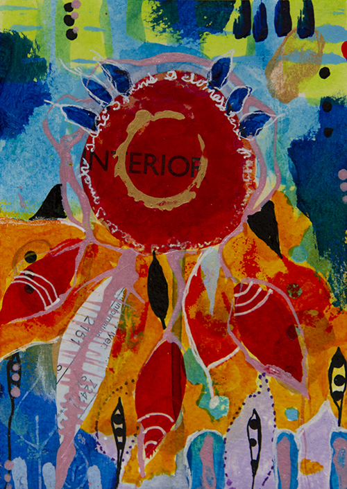 Happy Dreams XIII - 10,4 x 14,5 cm acryl.ic on paper
