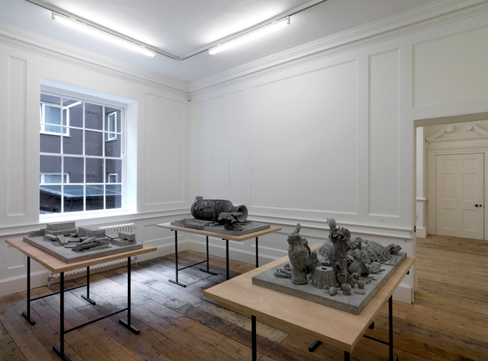 Isabelle Cornaro 'Homonymes', 2010 Plaster; 3 from a series of 4 Courtesy the artist and Galerie Balice Hertling, Paris Photograph by Marcus J. Leith.tiff
