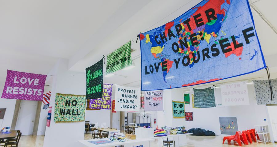The Protest Banner Lending Library.