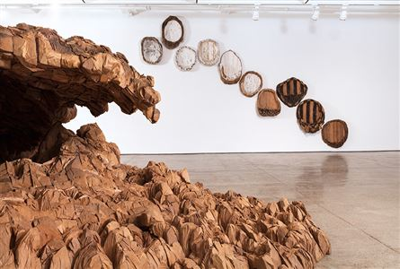 "Von Rydingvard's exhibition ""The Contour of Feeling,"" at the Fabric Workshop and Museum, Philadelphia."