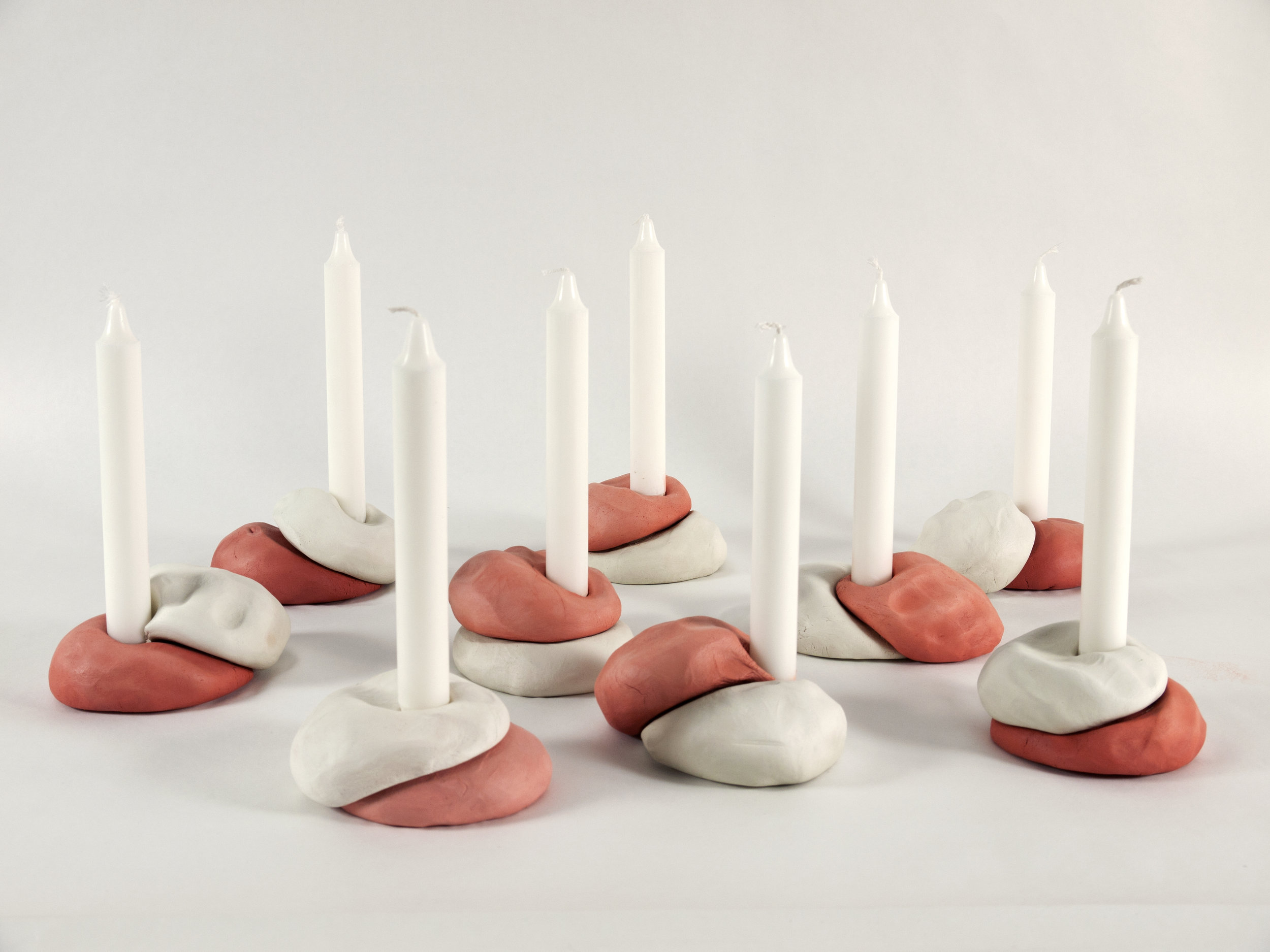 Jenny Nordberg, candlesticks made in 3 to 5 seconds.